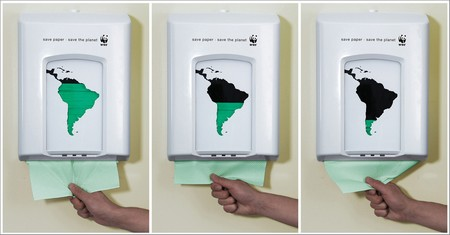 Publicité WWF Papier