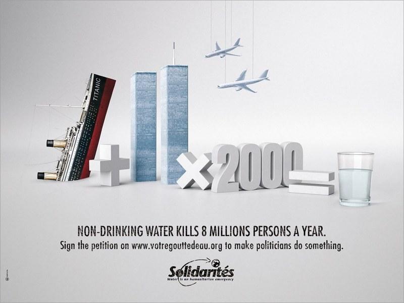 Publicité Campagne pour l'eau potable