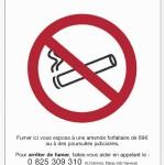 Interdiction de fumer dans Bar PME restaurant