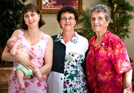 4 générations sur une même photo