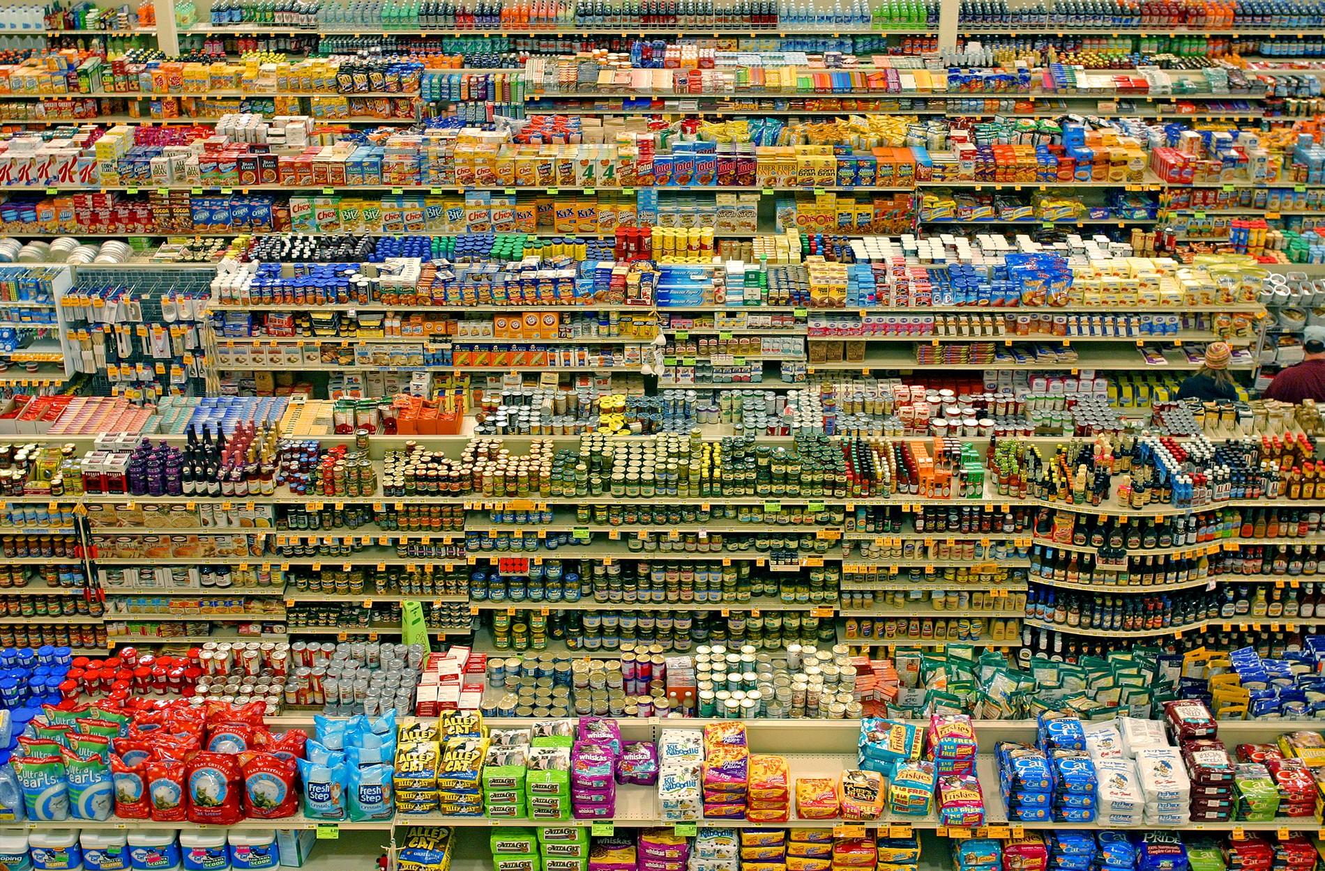 Rayons de supermarchés