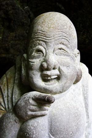 Le dieu du bonheur.