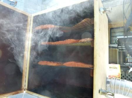 Saumon Fumé dans un fumoir maison