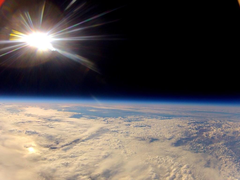 terre plate depuis l'espace