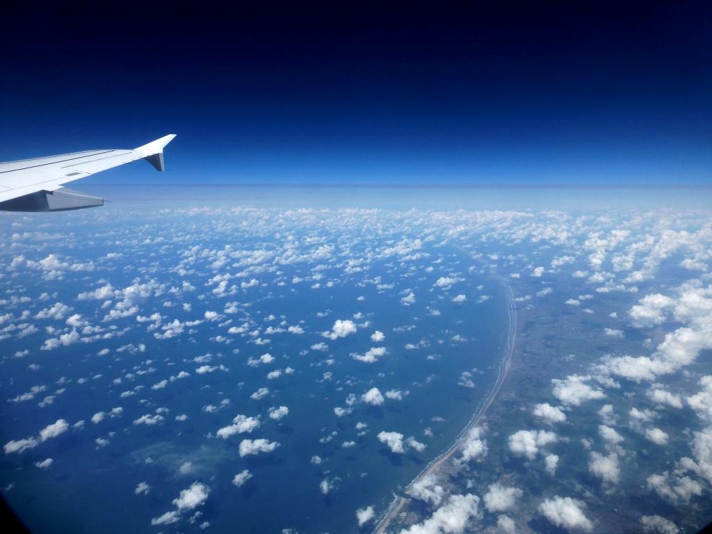 terre plate vue du ciel